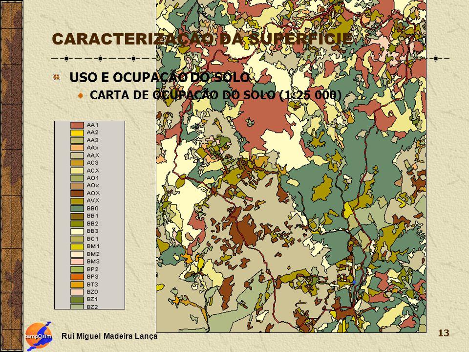 Rui Miguel Madeira Lança 13 CARACTERIZAÇÃO DA SUPERFICIE USO E OCUPAÇÃO DO SOLO CARTA DE OCUPAÇÃO DO SOLO (1:25 000)