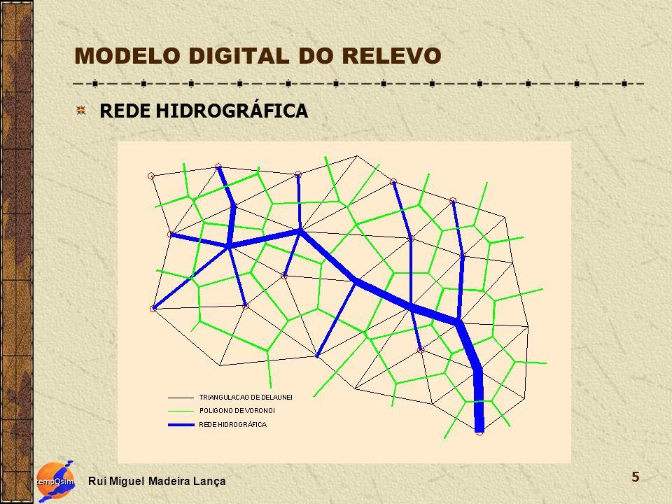 Rui Miguel Madeira Lança 5 MODELO DIGITAL DO RELEVO REDE HIDROGRÁFICA