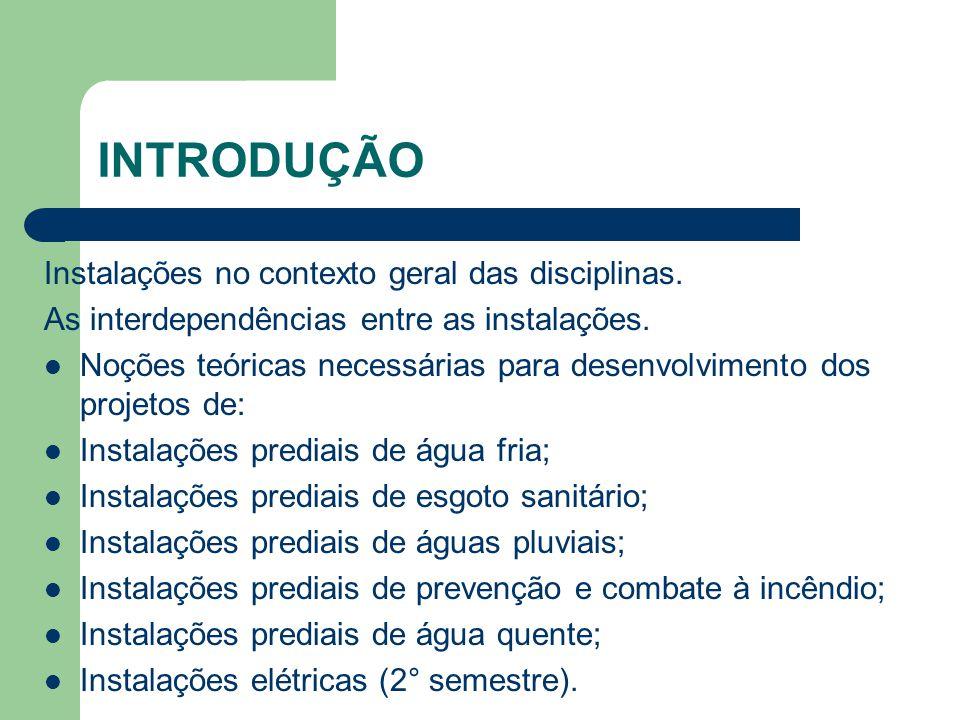 FUNCIONAMENTO DAS PEÇAS DE UTILIZAÇÃO Deve-se considerar o funcionamento máximo provável das peças sanitárias.