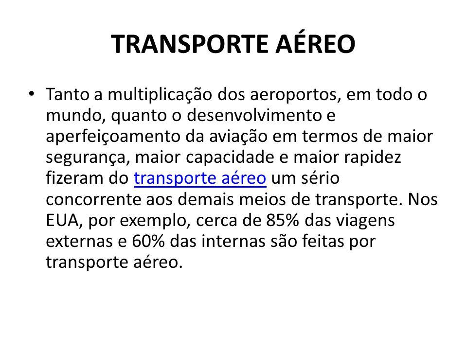 TRANSPORTE AÉREO • Tanto a multiplicação dos aeroportos, em todo o mundo, quanto o desenvolvimento e aperfeiçoamento da aviação em termos de maior seg