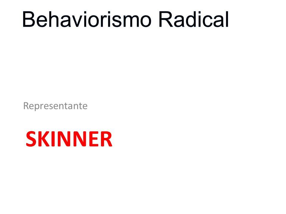1904-1990 Pai do Behaviorismo Radical A explicação científica é a prioridade para a ciência do comportamento (SKINNER,1945)