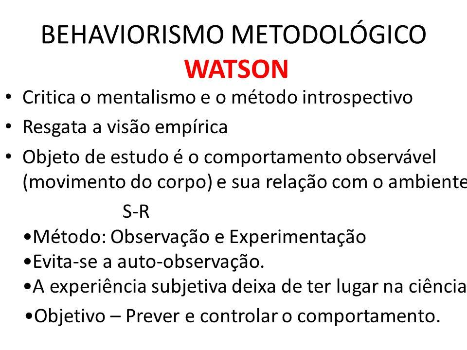 Watson-1913 • Dêem-me doze crianças sadias, de boa constituição e a liberdade de poder criá-las a minha maneira.
