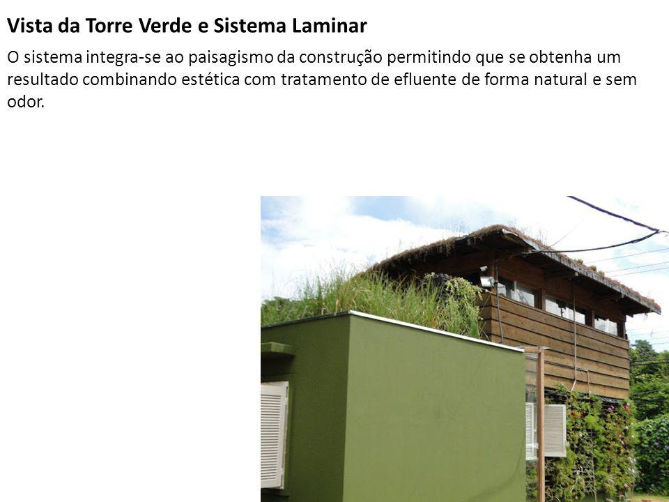 Vista da Torre Verde e Sistema Laminar O sistema integra-se ao paisagismo da construção permitindo que se obtenha um resultado combinando estética com