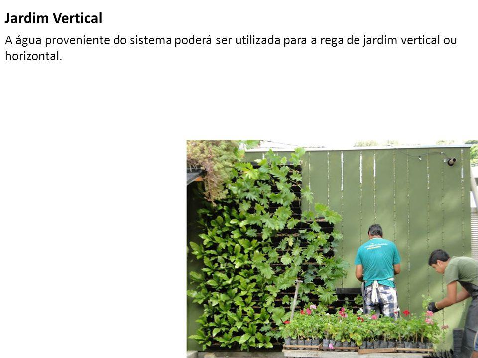 Jardim Vertical A água proveniente do sistema poderá ser utilizada para a rega de jardim vertical ou horizontal.