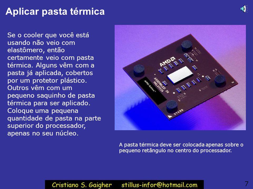 Usar o manual da placa de CPU A forma mais precisa e clara para fazer essas ligações é usando o diagrama existente no manual da sua placa de CPU.