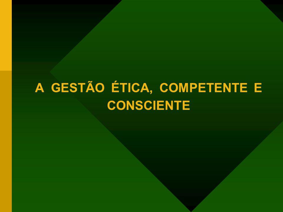 A GESTÃO ÉTICA, COMPETENTE E CONSCIENTE