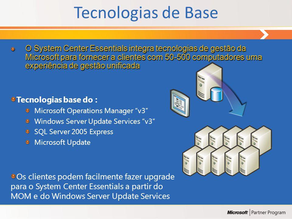 System Center Essentials 2007 Solução Unificada para Médias Empresas Monitorização, resolução de problemas e registo de existências para manter o ambi