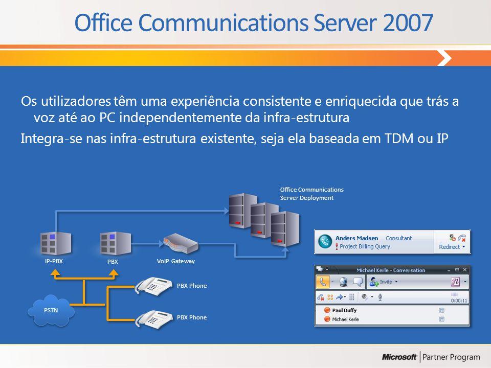 ProdutosFuncionalidades Licenciamento do Servidor Exchange Server 2007 Standard Edition Permite criar até 5 grupos de armazenamento, com o máximo de 5