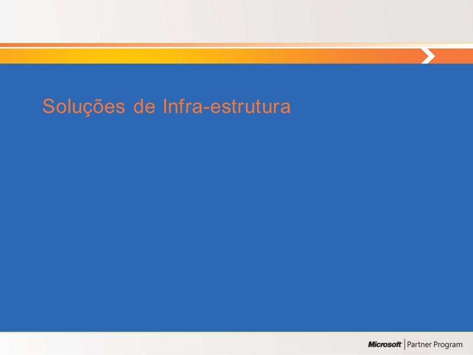 Agenda • Soluções de Infra-estrutura • Soluções de Gestão de Infra-estruturas • Soluções Aplicacionais • Soluções de Segurança