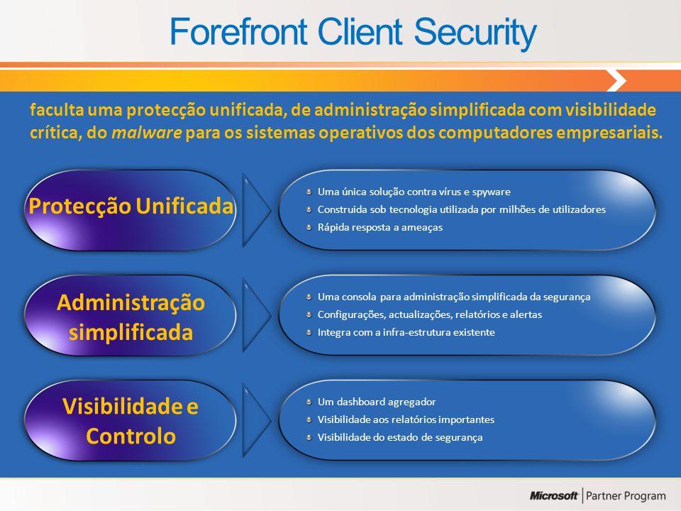 Uma linha de produtos de segurança corporativa cujo objectivo é aumentar a protecção através da forte integração e gestão simplificada. 34 Microsoft F