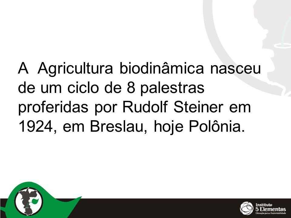 Primeira conferência Os interesses da agricultura estão intimamente entrelaçados, em todas as direções, com a esfera mais ampla da vida humana.