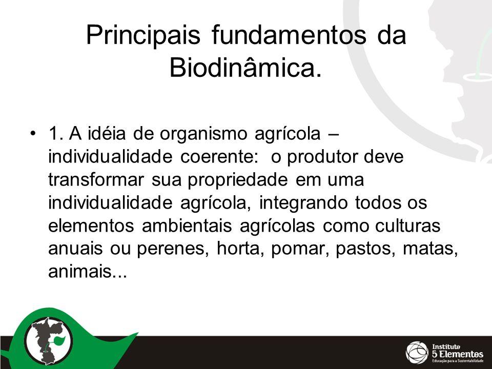 Principais fundamentos da Biodinâmica.•1.