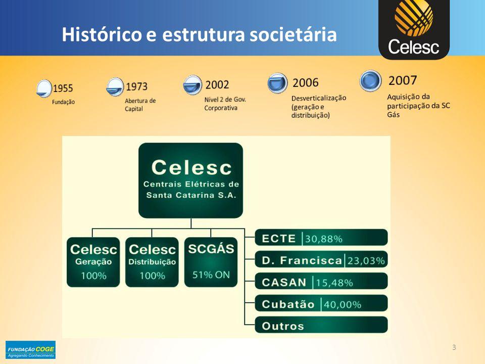 Plano Diretor 4 O Estatuto Social da Celesc Holding aprovou a elaboração de um Plano Diretor de longo prazo para a Companhia