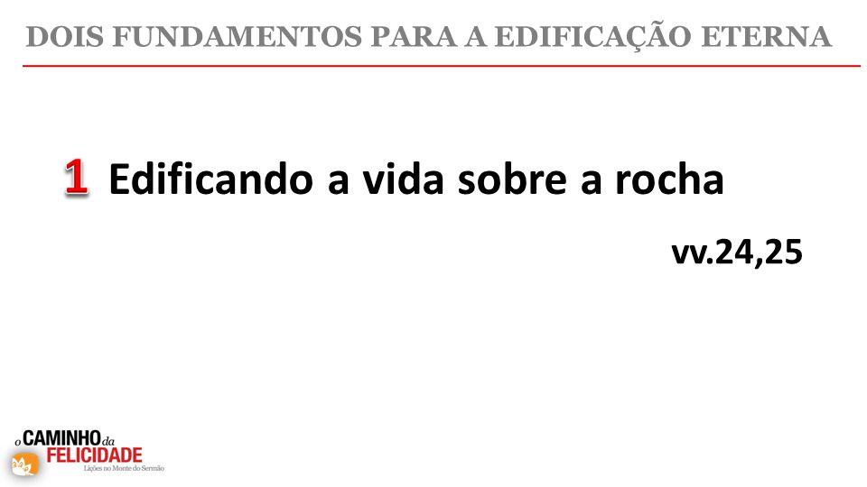 Edificando a vida sobre a rocha vv.24,25