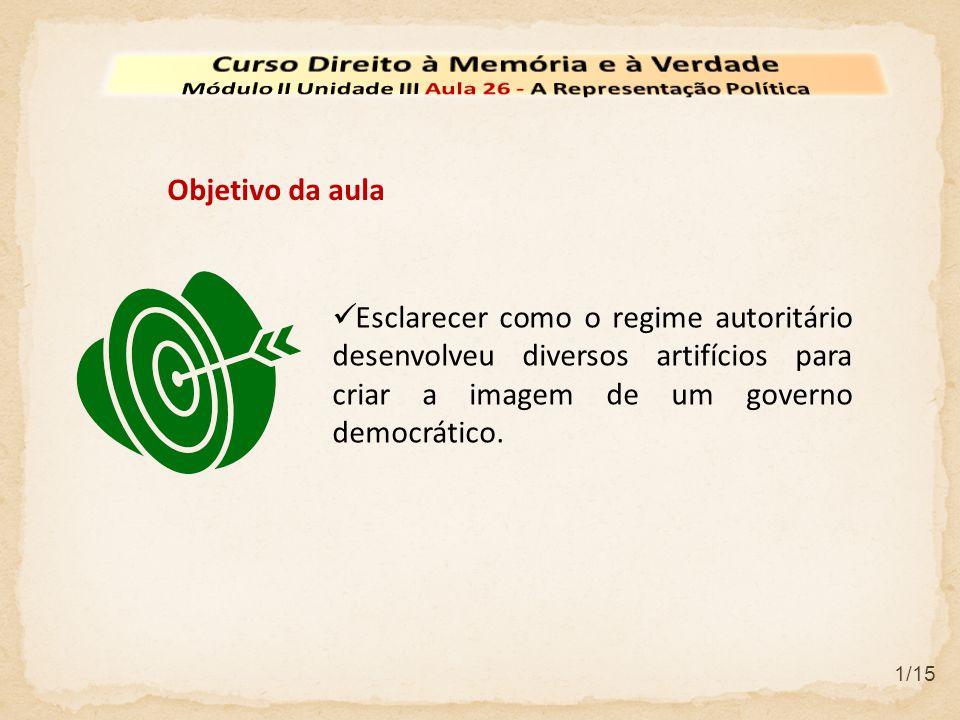 12/15 Em 1967, o governo instaura a nova constituição no Brasil.