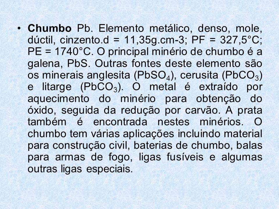 •Chumbo Pb.