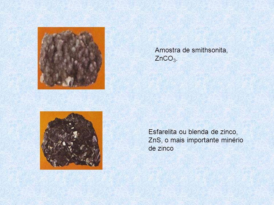 Amostra de smithsonita, ZnCO 3.
