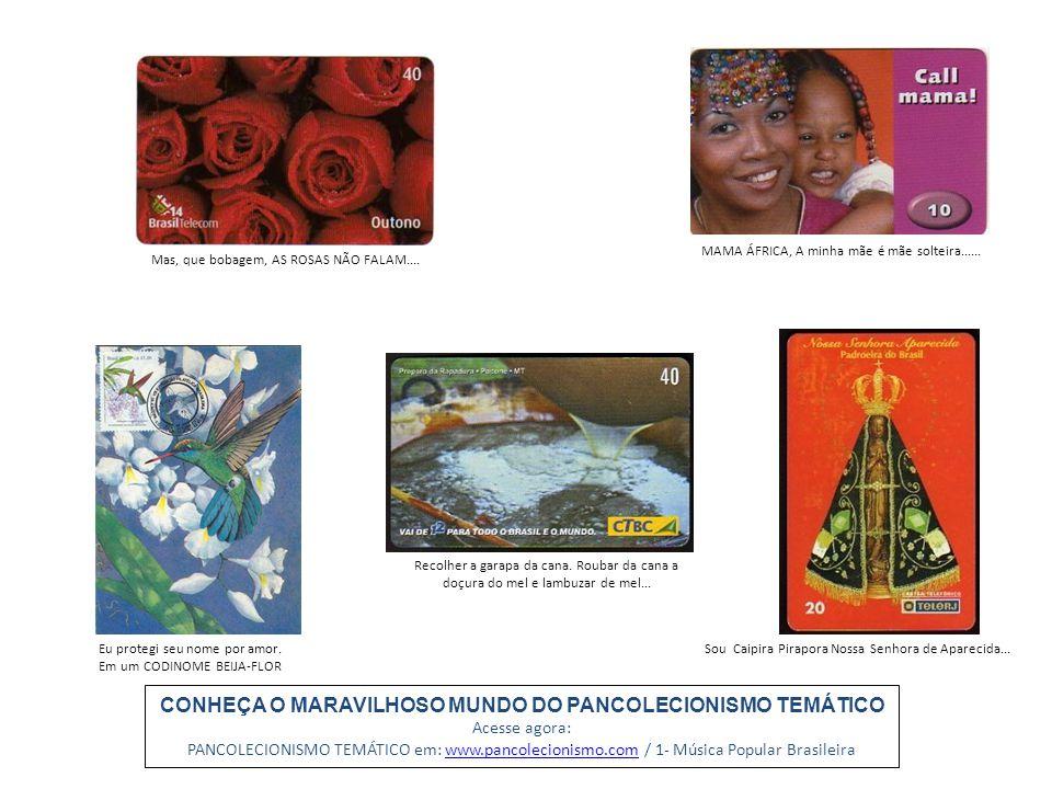 CONHEÇA O MARAVILHOSO MUNDO DO PANCOLECIONISMO TEMÁTICO Acesse agora: PANCOLECIONISMO TEMÁTICO em: www.pancolecionismo.com / 1- Música Popular Brasile