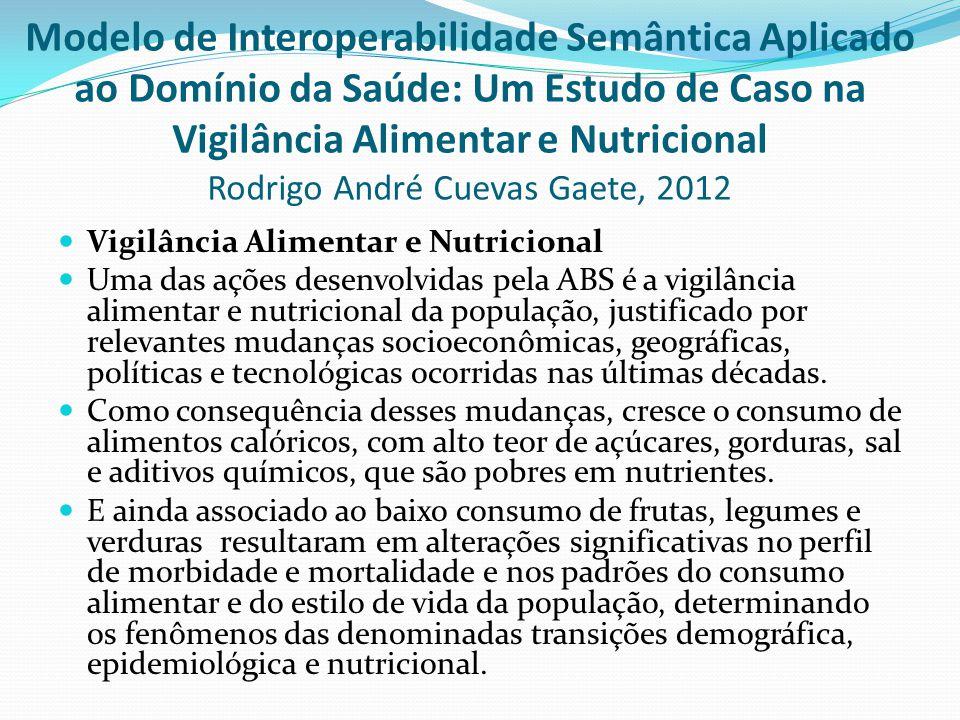  Vigilância Alimentar e Nutricional  Uma das ações desenvolvidas pela ABS é a vigilância alimentar e nutricional da população, justificado por relev