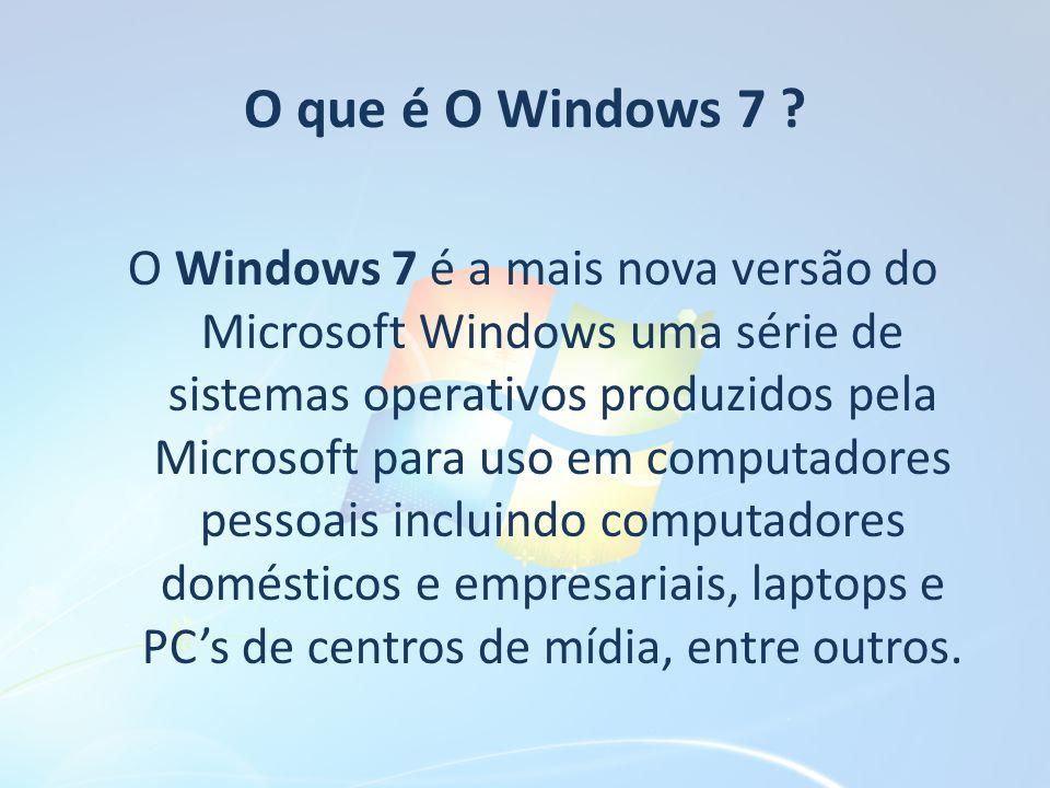Para que serve o Windows 7 .