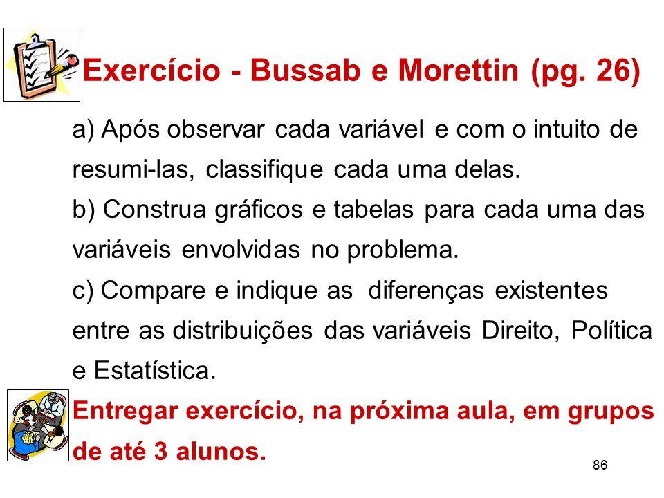 86 Exercício - Bussab e Morettin (pg.