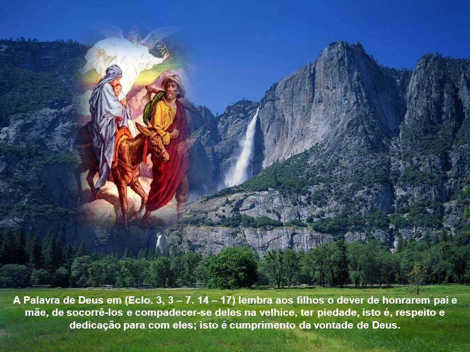 No Domingo após o Natal celebra-se a festa da Sagrada Família Jesus, Maria e José. Deus quis manifestar-se aos homens integrado numa família humana. E