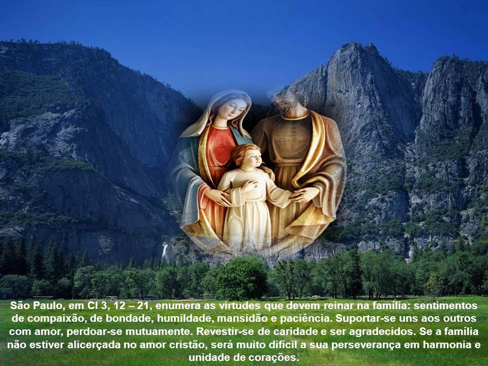 A Palavra de Deus em (Eclo. 3, 3 – 7. 14 – 17) lembra aos filhos o dever de honrarem pai e mãe, de socorrê-los e compadecer-se deles na velhice, ter p