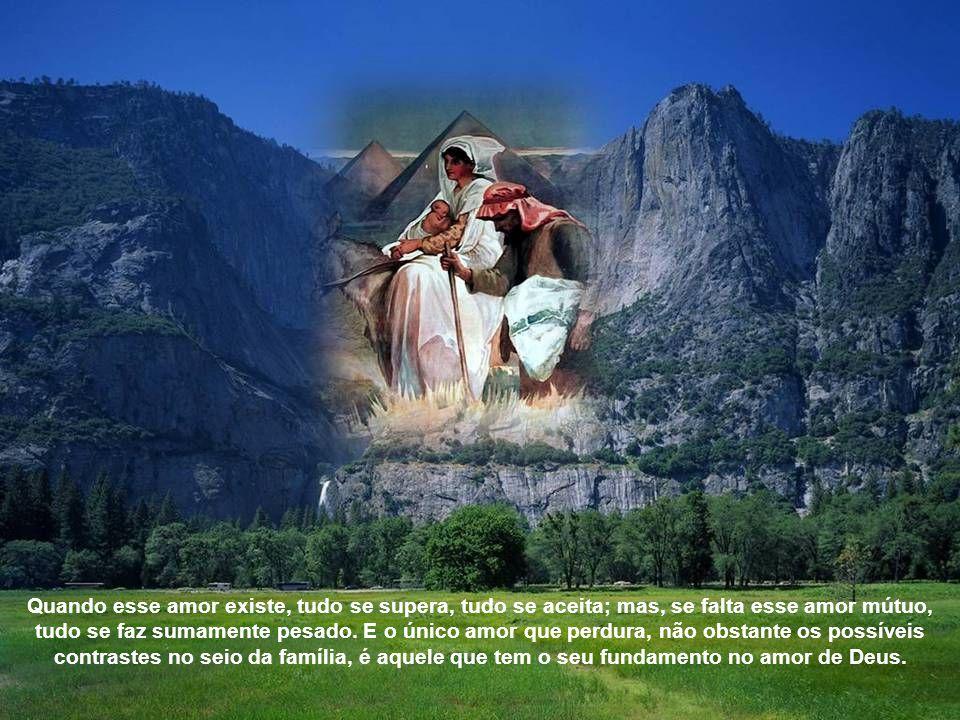 São Paulo, em Cl 3, 12 – 21, enumera as virtudes que devem reinar na família: sentimentos de compaixão, de bondade, humildade, mansidão e paciência. S