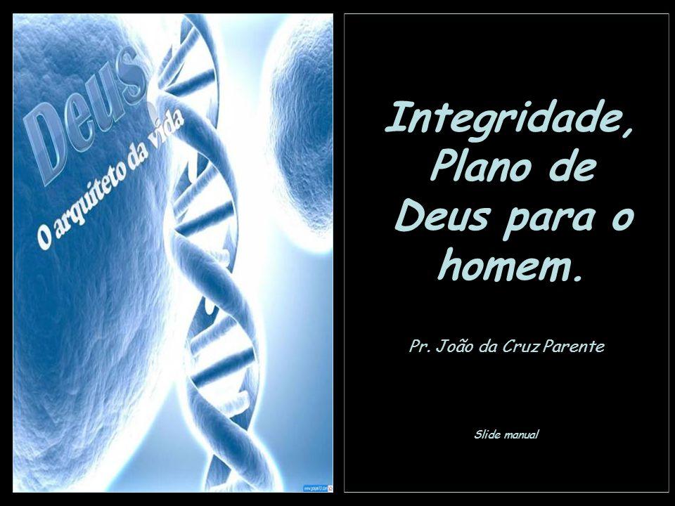 Integridade, Plano de Deus para o homem. Pr. João da Cruz Parente Slide manual