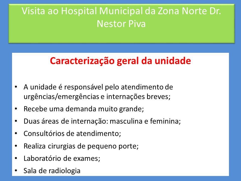 Visita ao Hospital Municipal da Zona Norte Dr. Nestor Piva