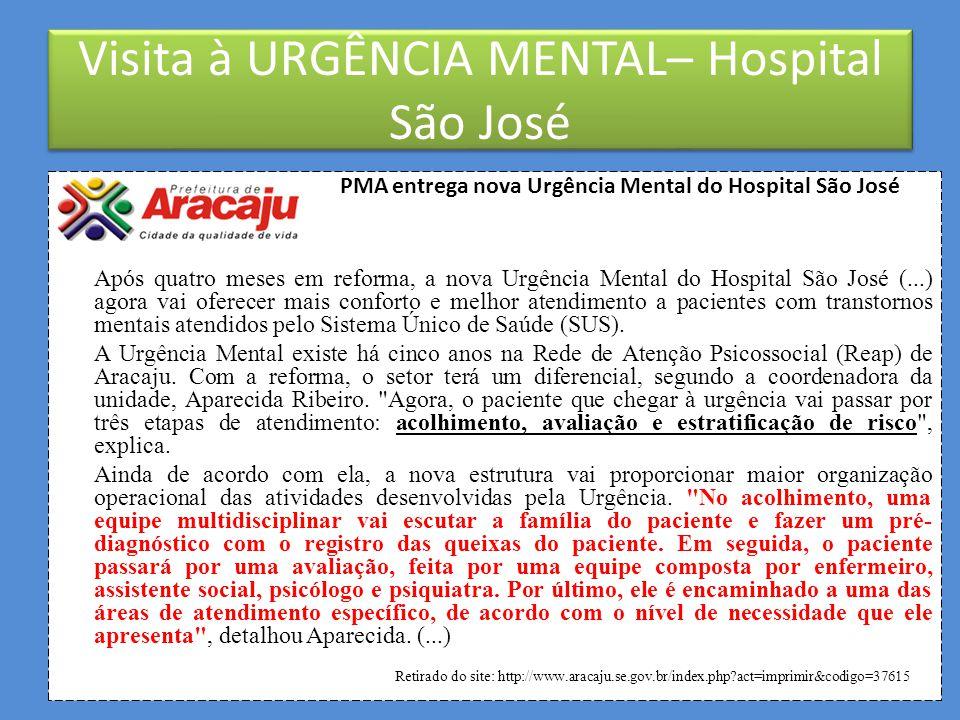 VISITA AO HOSPITAL SÃO JOSÉ