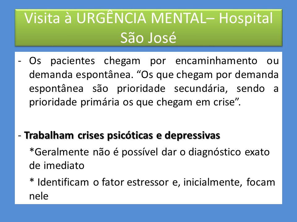 - Recebem demandas de todo Brasil. -Equipe multidisciplinar, composta por médicos, psiquiatras, assistente social, psicóloga (apenas uma!!!) e enferme