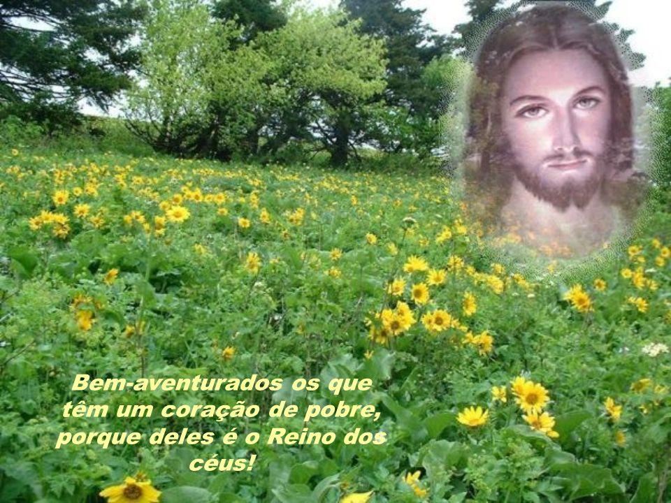 Vendo aquelas multidões, Jesus subiu à montanha.Sentou-se e seus discípulos aproximaram-se dele.