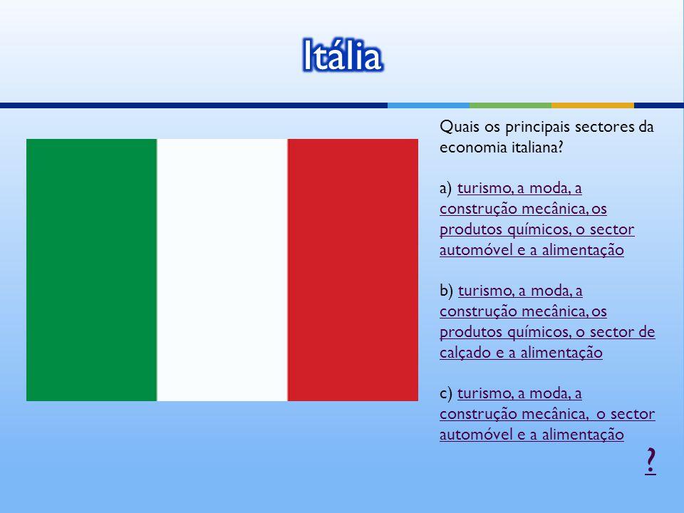 Quais os principais sectores da economia italiana.