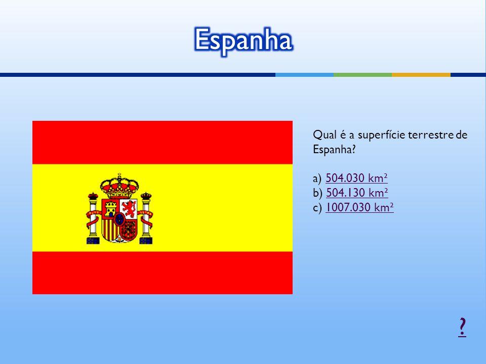 Qual é a superfície terrestre de Espanha.