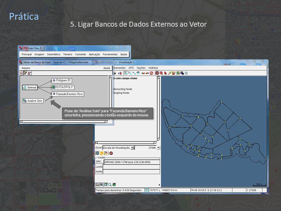 Prática Puxe de Análise Solo para Fazenda Barreiro Rico uma linha, pressionando o botão esquerdo do mouse 5.