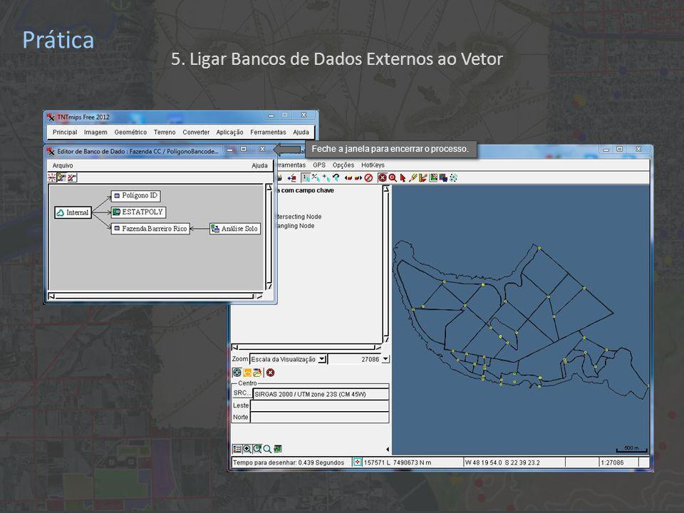 Prática Feche a janela para encerrar o processo. 5. Ligar Bancos de Dados Externos ao Vetor