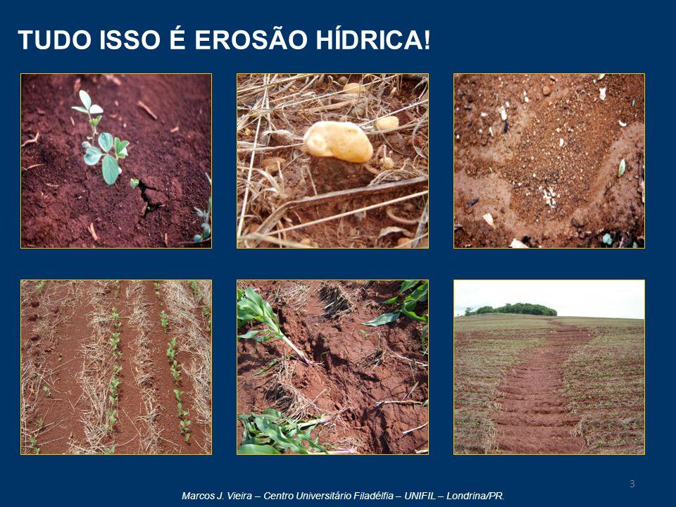 Marcos J. Vieira – Centro Universitário Filadélfia – UNIFIL – Londrina/PR. TUDO ISSO É EROSÃO HÍDRICA! 3