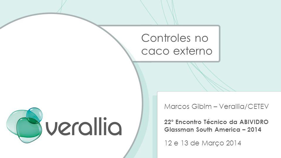 Controles no caco externo Marcos Gibim – Verallia/CETEV 22º Encontro Técnico da ABIVIDRO Glassman South America – 2014 12 e 13 de Março 2014