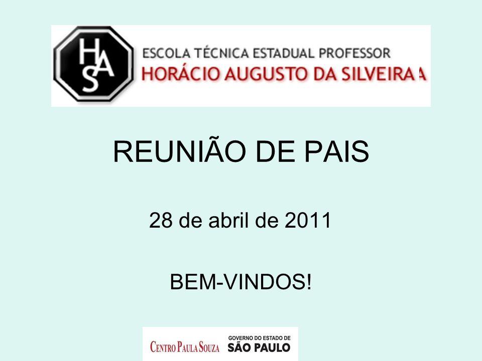 REUNIÃO DE PAIS 28 de abril de 2011 BEM-VINDOS!