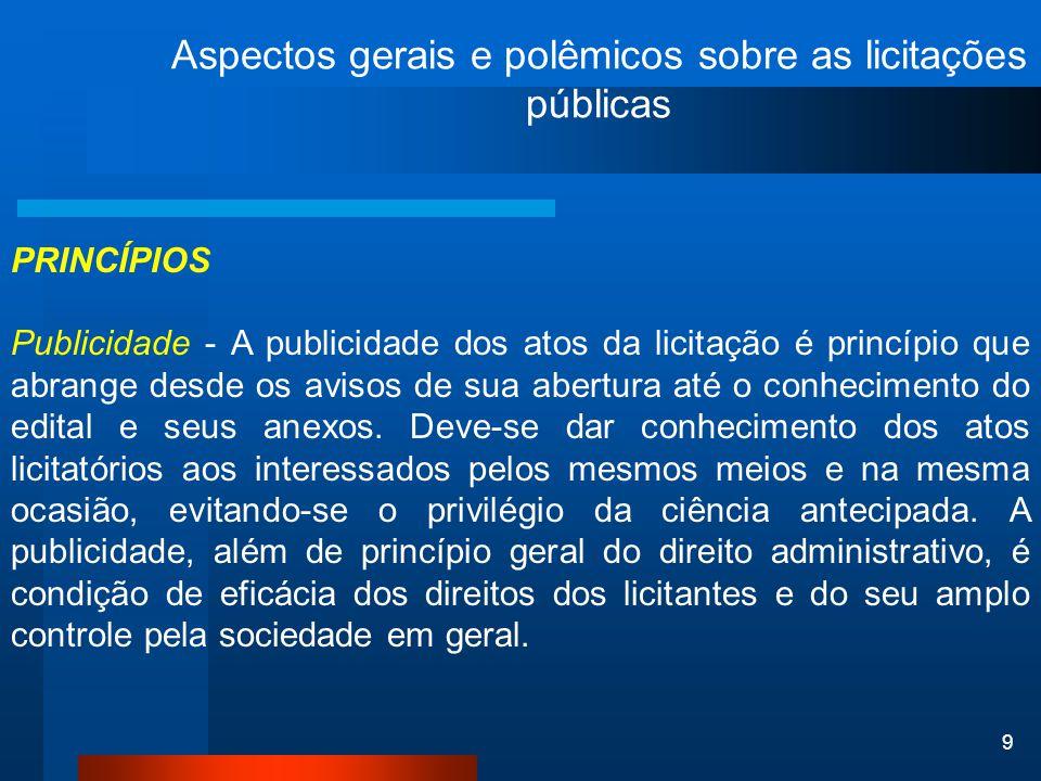 20 Aspectos gerais e polêmicos sobre as licitações públicas comissão de recebimento de materiais – conforme prescreve o art.