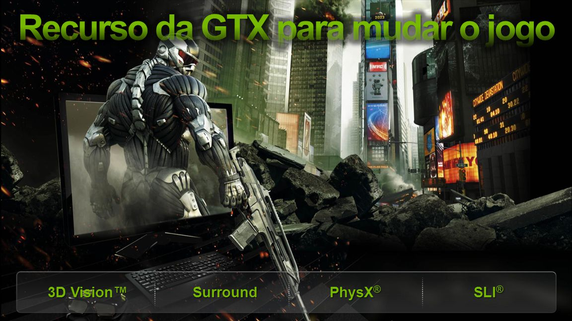 NVIDIA Confidential 3D Vision™ Surround PhysX ® SLI ®