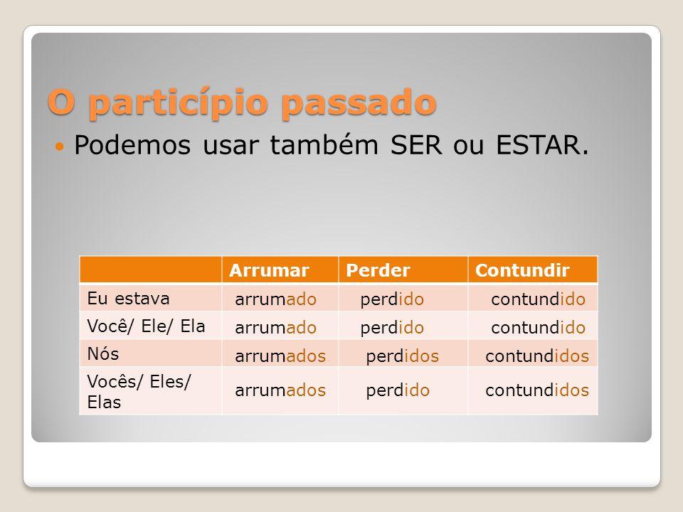 Usos do particípio  Para denotar anterioridade em relação ao ponto de referência.