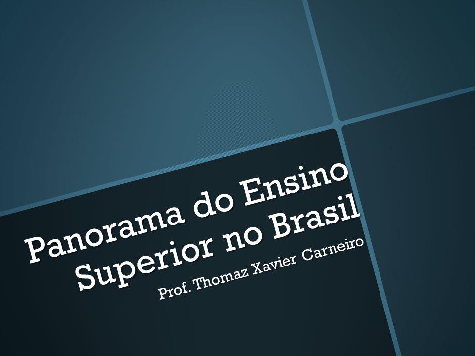 Panorama do Ensino Superior no Brasil Prof. Thomaz Xavier Carneiro