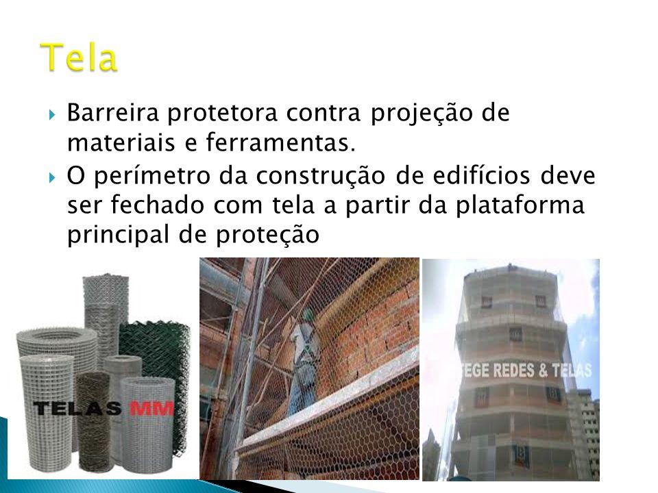  Barreira protetora contra projeção de materiais e ferramentas.