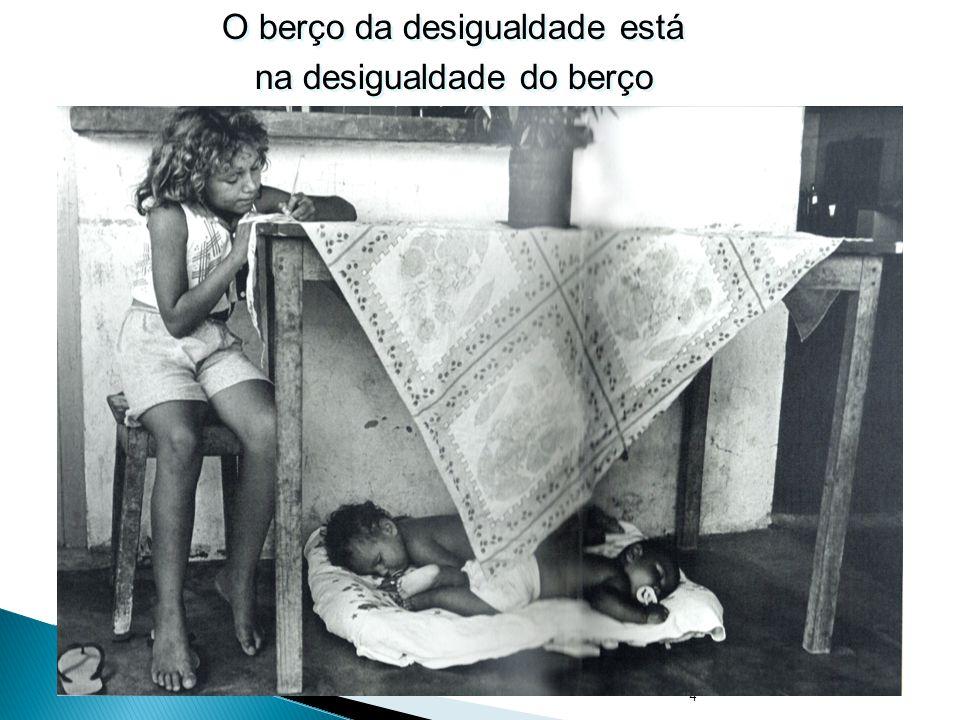 4 O berço da desigualdade está na desigualdade do berço O berço da desigualdade está na desigualdade do berço