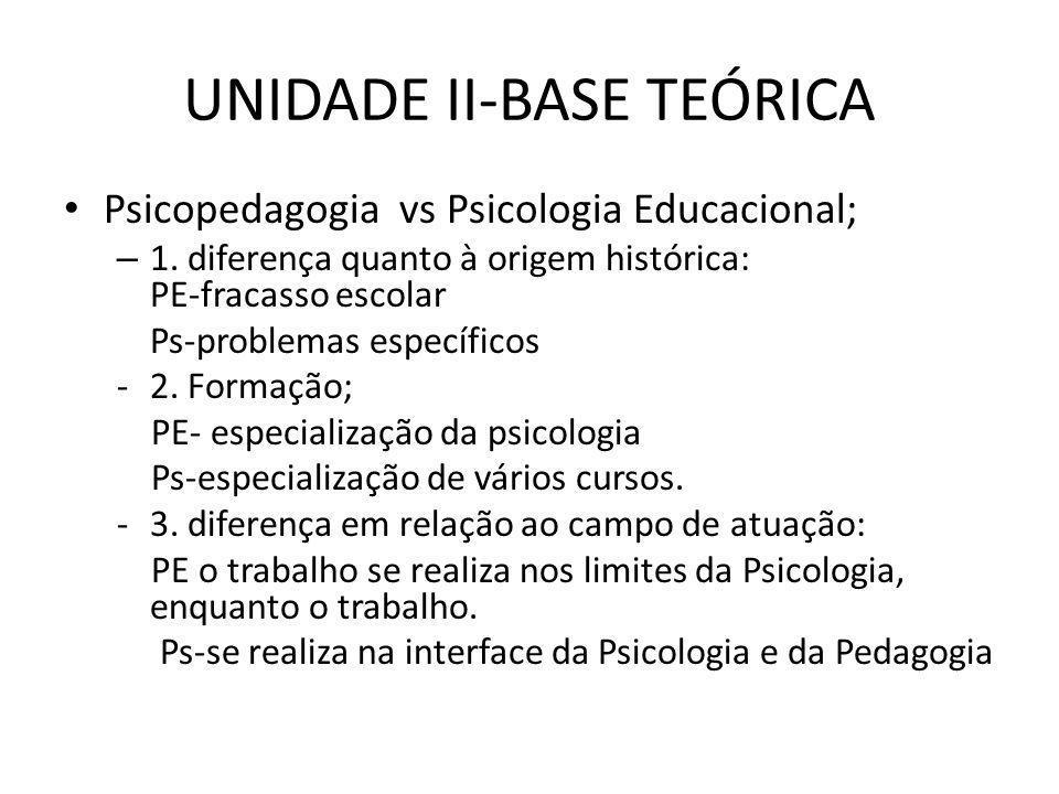 PSICOPEDAGOGIA • -3- Desenvolvimento do raciocínio- Trabalho feito com processos de pensamento necessários ao ato de aprender.