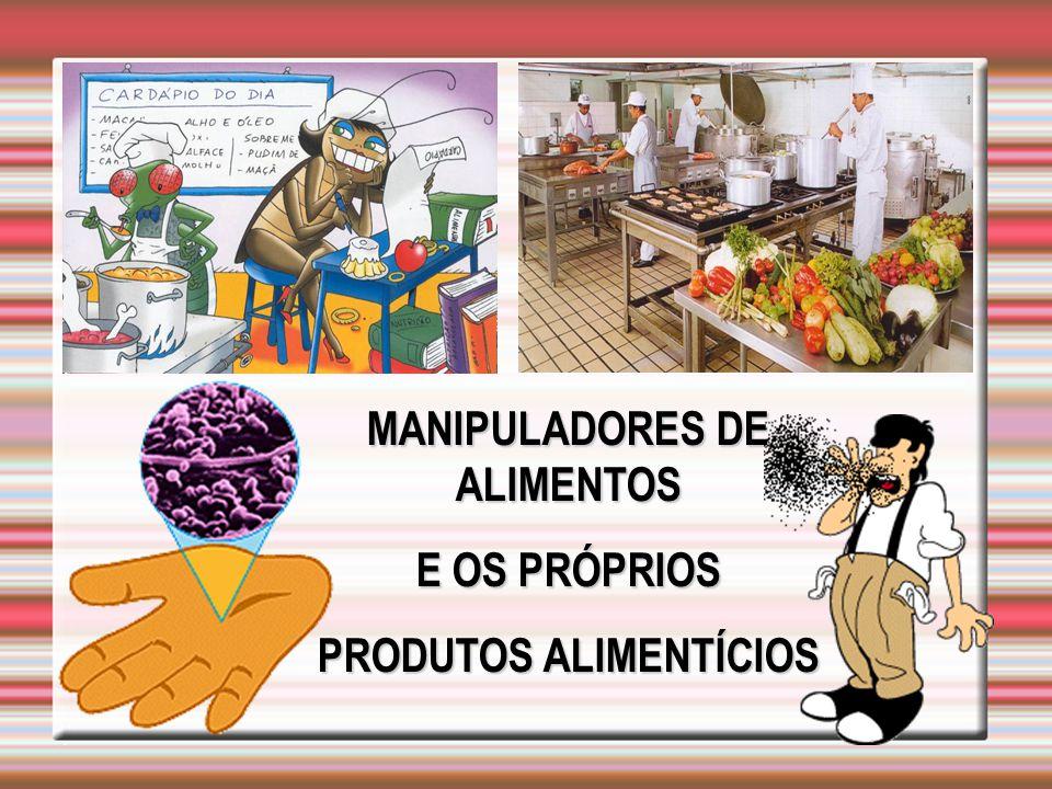 MANIPULADORES DE ALIMENTOS E OS PRÓPRIOS PRODUTOS ALIMENTÍCIOS