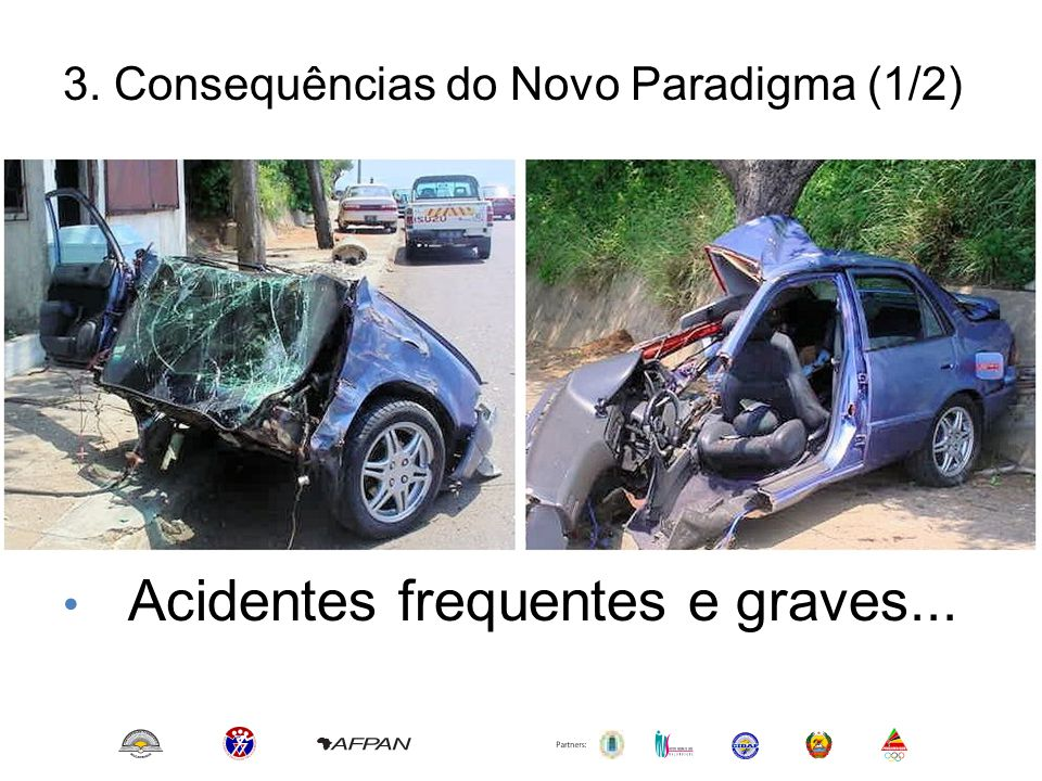 3. Consequências do Novo Paradigma (1/2) • Crescimento do Parque Automóvel; • Pressão sobre as infraestruturas; • Frequentes congestionamentos; • Acid
