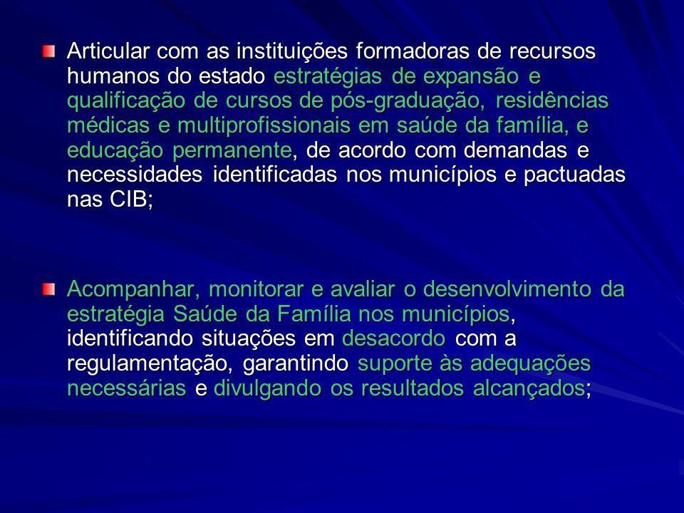 Articular com as instituições formadoras de recursos humanos do estado estratégias de expansão e qualificação de cursos de pós-graduação, residências